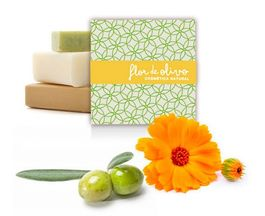 ALOE VERA, OLIVE OIL AND CALENDULA OIL NATURAL SOAP